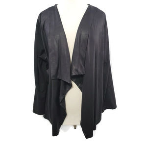 Style & Co Women's Open Front Cardigan 3X Black
